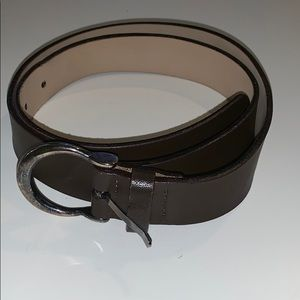 Talbots dark brown belt small